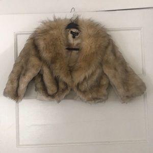 Bebe faux fur crop jacket